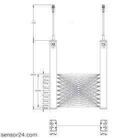 crossing-beam light curtains CRB-100